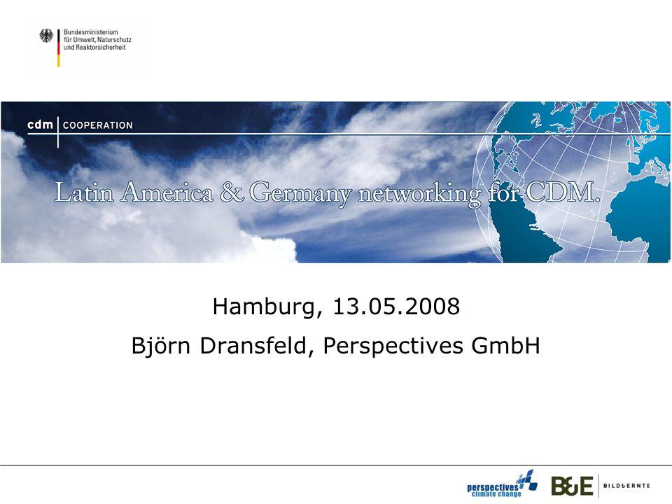Hamburg, 13.05.2008 Björn Dransfeld, Perspectives GmbH