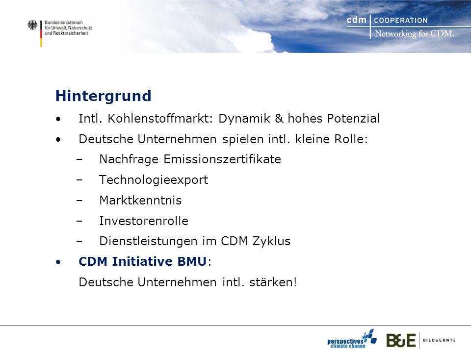 Hintergrund Intl. Kohlenstoffmarkt: Dynamik & hohes Potenzial Deutsche Unternehmen spielen intl.