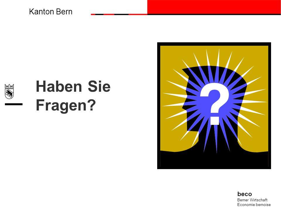 Kanton Bern beco Berner Wirtschaft Economie bernoise Haben Sie Fragen?