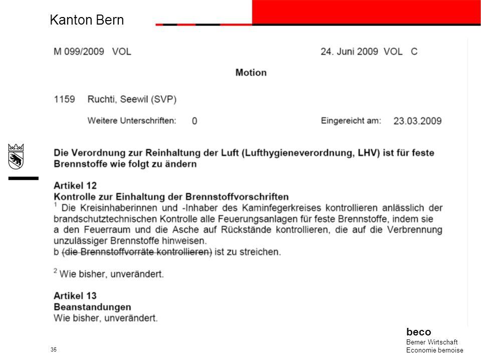 Kanton Bern beco Berner Wirtschaft Economie bernoise 35