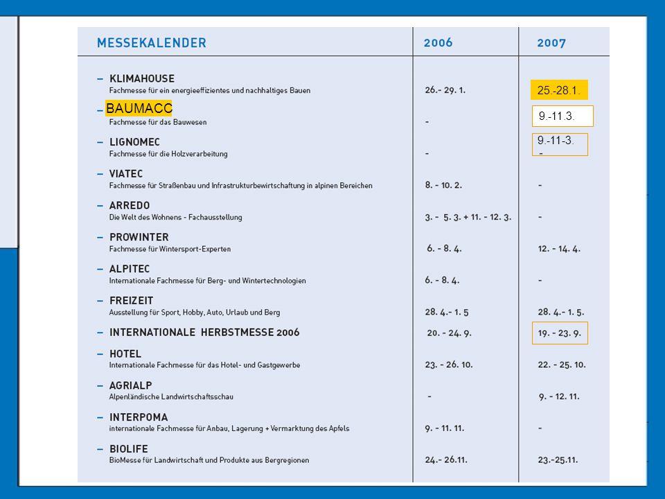 BAUMACC 25.-28.1. 9.-11-3. 9.-11.3.