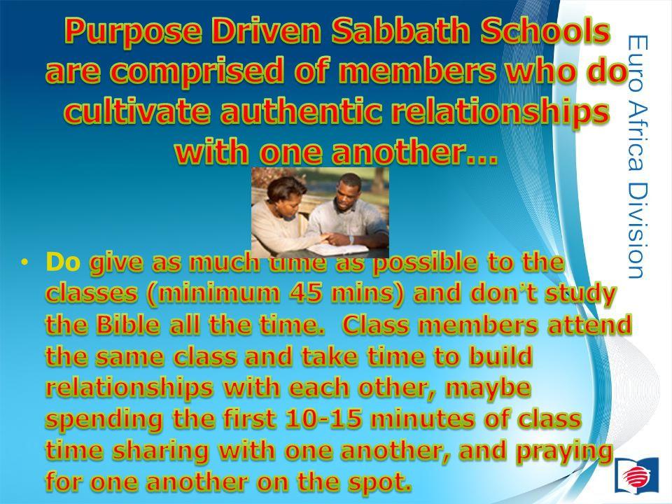 Eine unterstützende Struktur beim Umsetzen der 4 Ziele der Sabbatschule