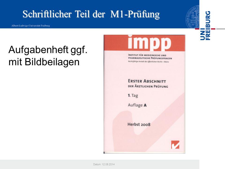 Datum: 12.05.2014 Bestehen der M 1 NICHT BESTEHEN Ist ein Prüfungsteil nicht bestanden, so muss nur der nicht bestandene Teil wiederholt werden.
