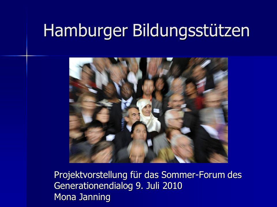 Hamburger Bildungsstützen Projektvorstellung für das Sommer-Forum des Generationendialog 9.