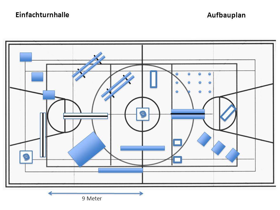 Einfachturnhalle 9 Meter Aufbauplan