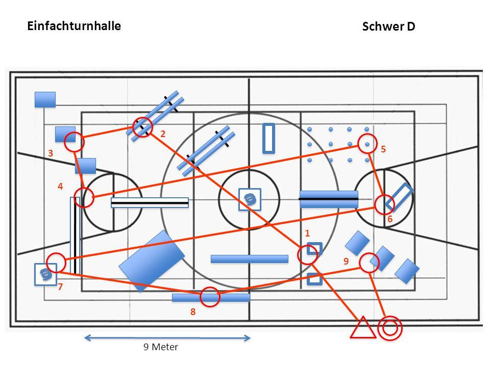 Einfachturnhalle 9 Meter 7 2 1 3 8 4 5 6 9 Schwer D