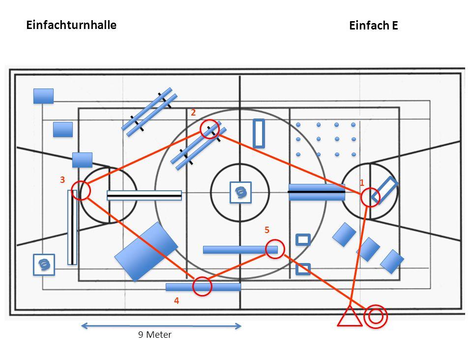 Einfachturnhalle 9 Meter 4 3 5 2 1 Einfach E