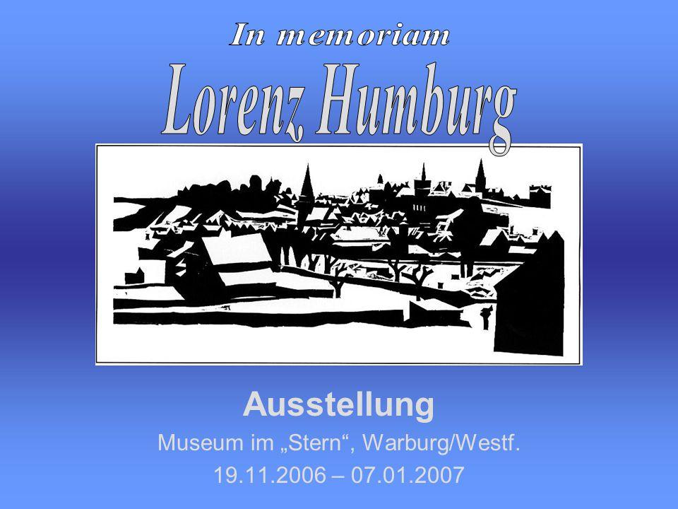 Ausstellung Museum im Stern, Warburg/Westf. 19.11.2006 – 07.01.2007