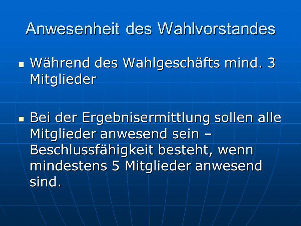 Wahlberechtigung - Bundestag Prüfung der Wahlberechtigung (Wahlbenachrichtigungskarte, Ausweis, persönlich bekannt) Deutscher im Sinne des Grundgesetzes (auch doppelte Staatsangehörigkeit) Deutscher im Sinne des Grundgesetzes (auch doppelte Staatsangehörigkeit) Vollendung 18.