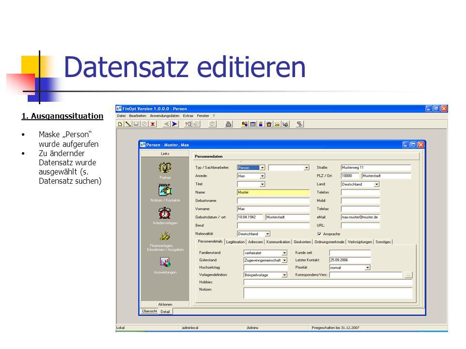 Datensatz editieren 2.