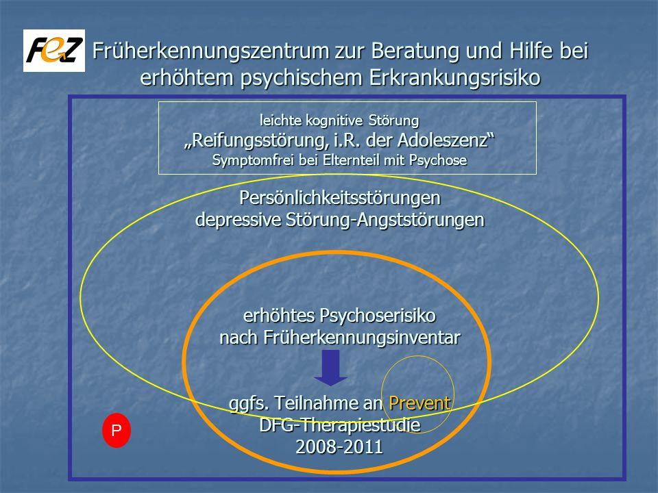 Früherkennungszentrum zur Beratung und Hilfe bei erhöhtem psychischem Erkrankungsrisiko leichte kognitive Störung Reifungsstörung, i.R.