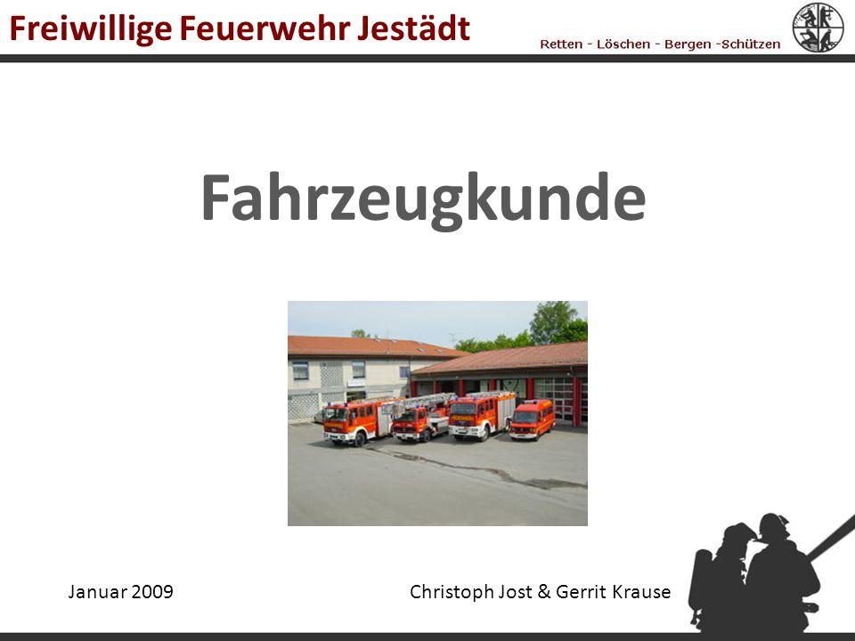 Fahrzeugkunde Freiwillige Feuerwehr Jestädt Januar 2009Christoph Jost & Gerrit Krause
