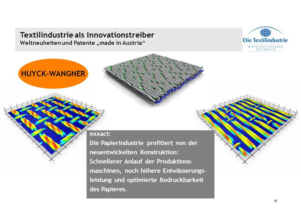 9 9 exxact: Die Papierindustrie profitiert von der neuentwickelten Konstruktion: Schnellerer Anlauf der Produktions- maschinen, noch höhere Entwässeru