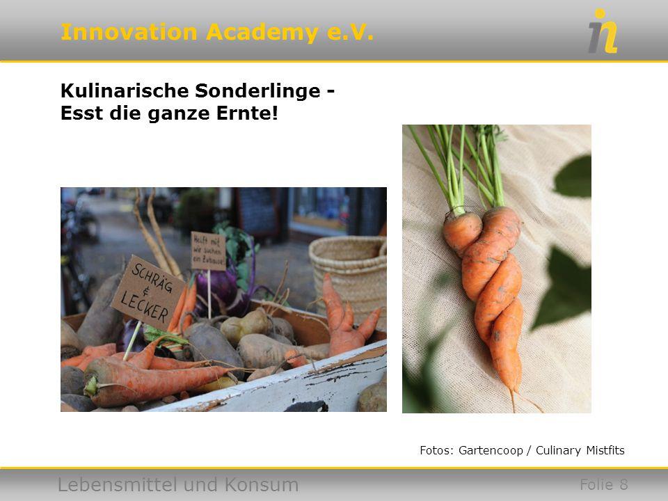 Innovation Academy e.V. Lebensmittel und Konsum Folie 9 Foto: taste the waste