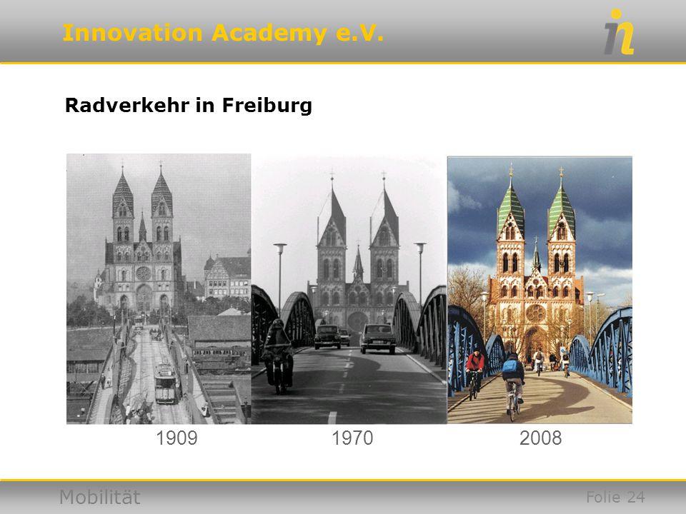 Innovation Academy e.V. Mobilität Radverkehr in Freiburg 190919702008 Folie 24
