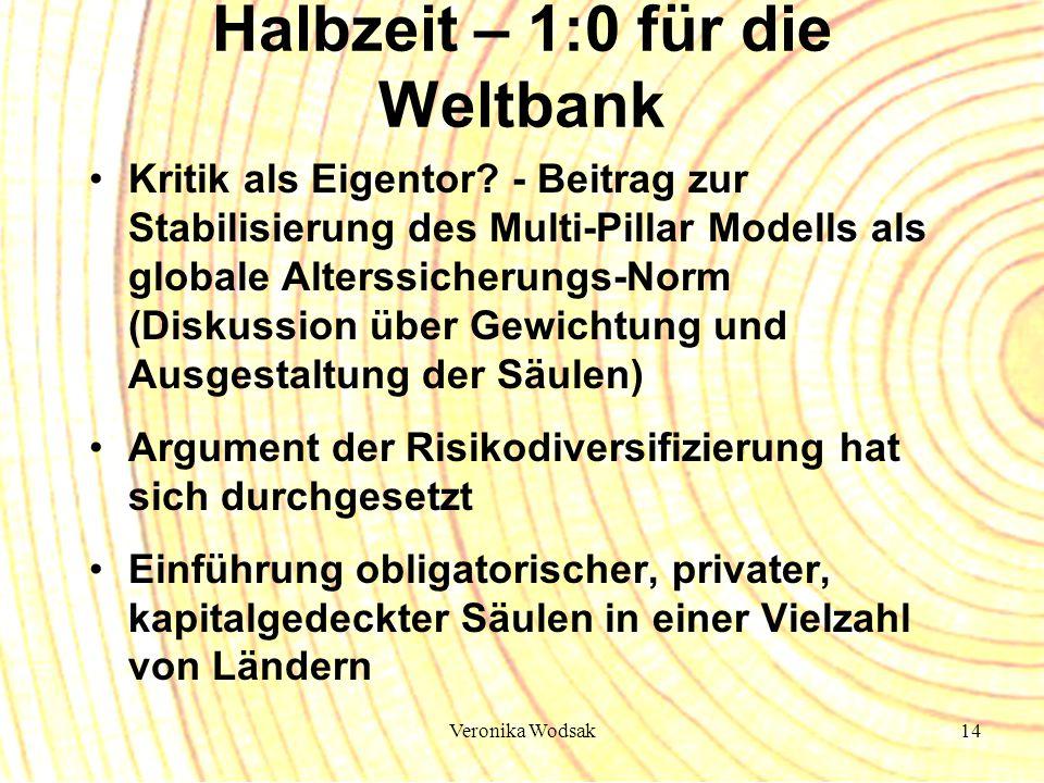 Veronika Wodsak14 Halbzeit – 1:0 für die Weltbank Kritik als Eigentor? - Beitrag zur Stabilisierung des Multi-Pillar Modells als globale Alterssicheru