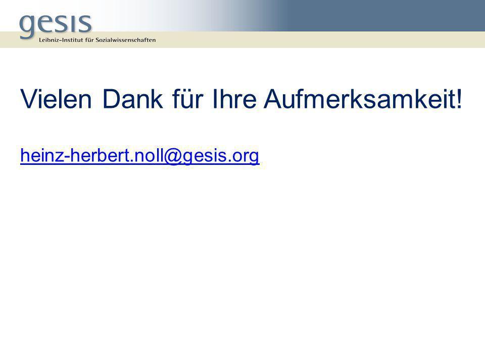 Vielen Dank für Ihre Aufmerksamkeit! heinz-herbert.noll@gesis.org