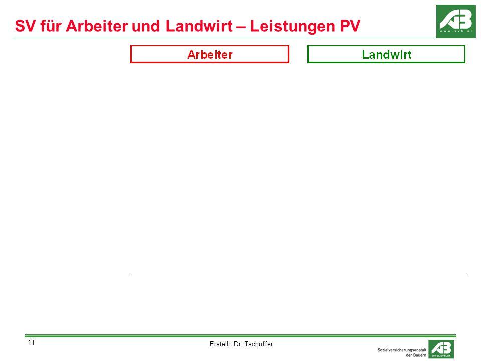 Erstellt: Dr. Tschuffer 11 SV für Arbeiter und Landwirt – Leistungen PV