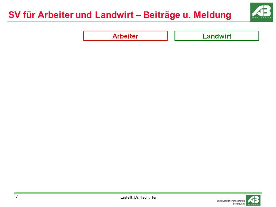 Erstellt: Dr. Tschuffer 8 SV für Arbeiter und Landwirt - Versicherungsfälle
