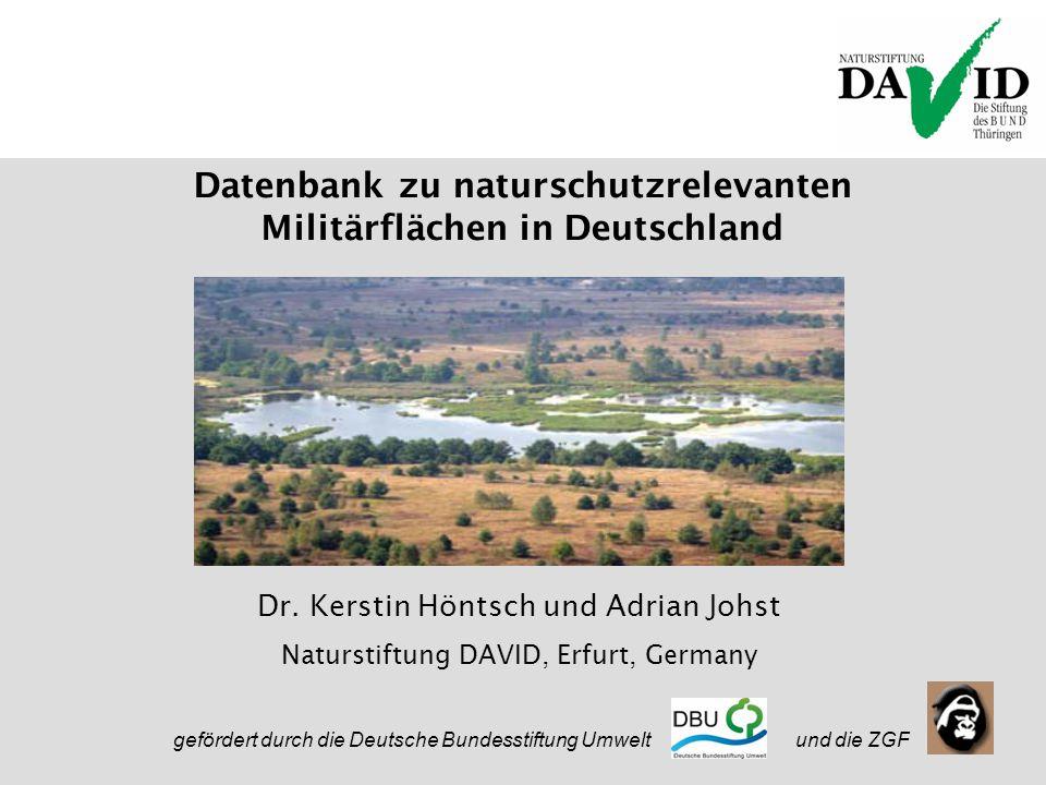 Nature in Defence 20.09.2005 Datenbank zu naturschutzrelevanten Militärflächen in Deutschland Dr.