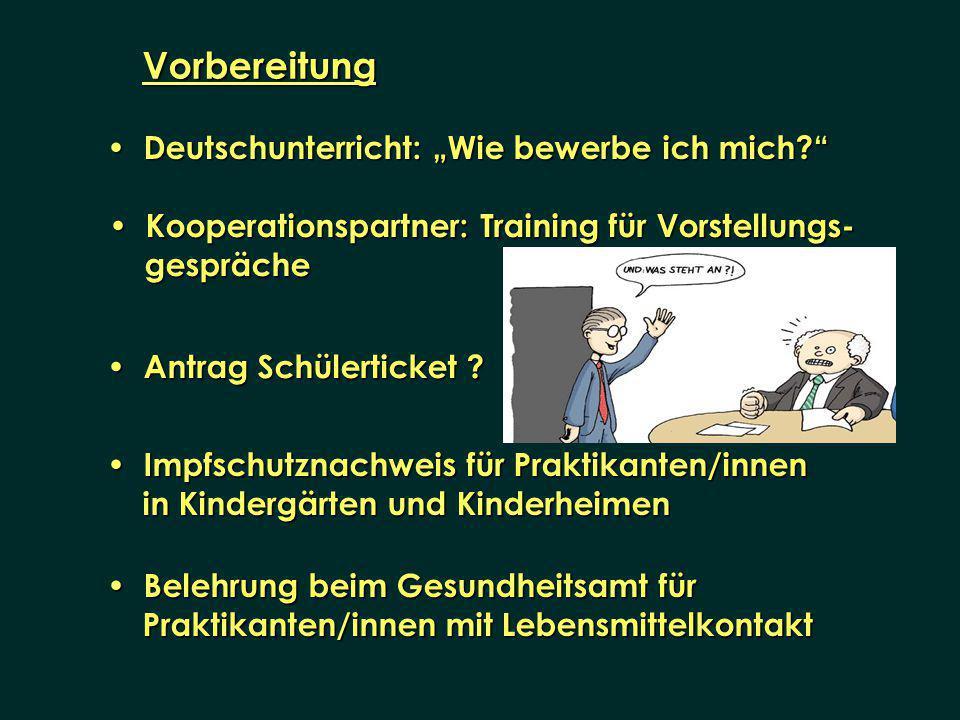 Deutschunterricht: Wie bewerbe ich mich? Deutschunterricht: Wie bewerbe ich mich? Vorbereitung Antrag Schülerticket ? Antrag Schülerticket ? Impfschut