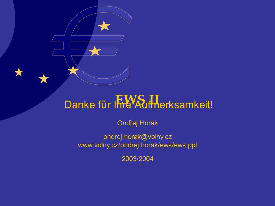 EWS II Ondřej Horák ondrej.horak@volny.cz www.volny.cz/ondrej.horak/ews/ews.ppt 2003/2004 Danke für Ihre Aufmerksamkeit!