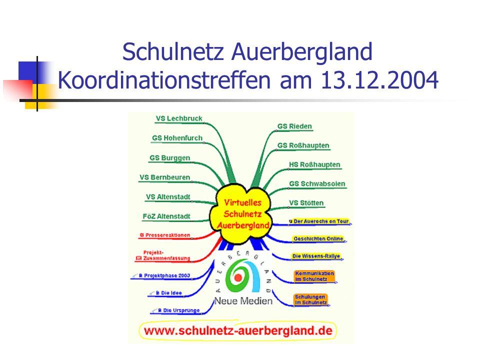 Schulnetz Auerbergland Koordinationstreffen am 13.12.2004