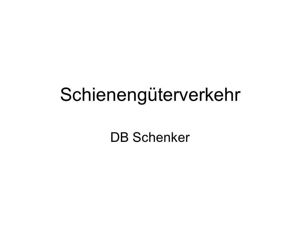 Schienengüterverkehr DB Schenker