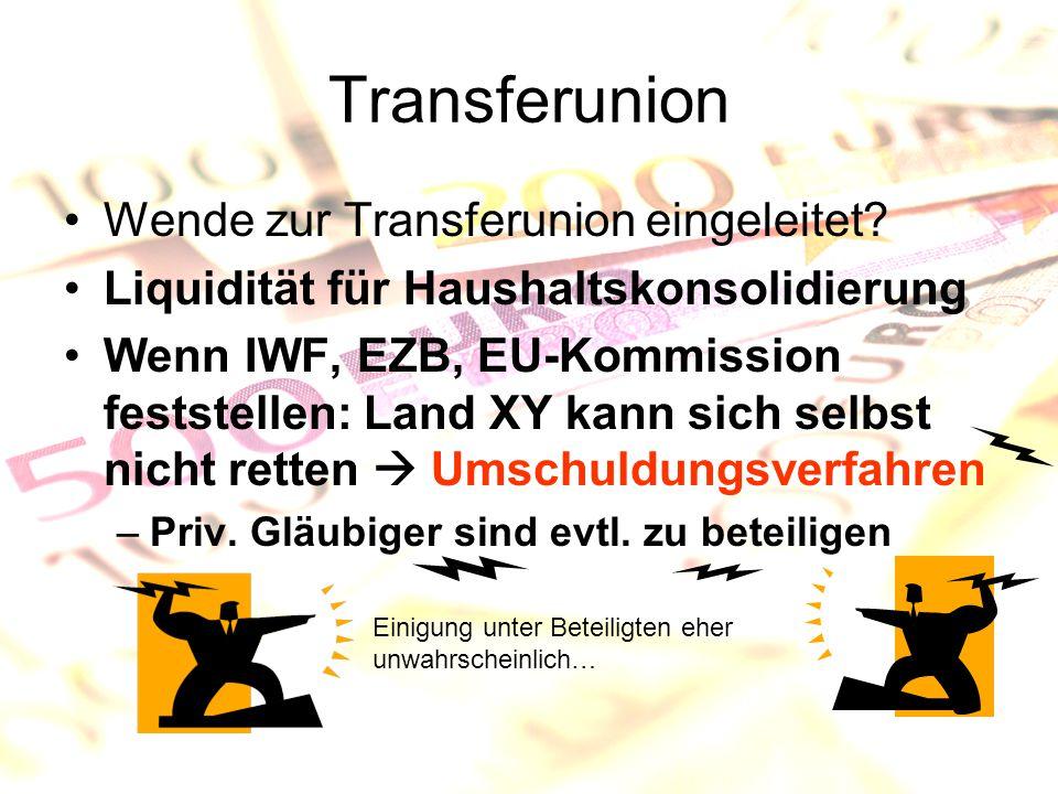 Transferunion Wende zur Transferunion eingeleitet.