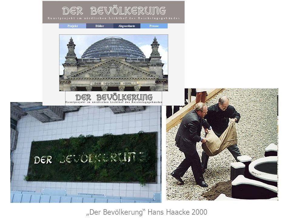Der Bevölkerung Hans Haacke 2000