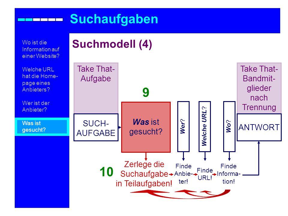 Suchmodell (4) Suchaufgaben Wo .