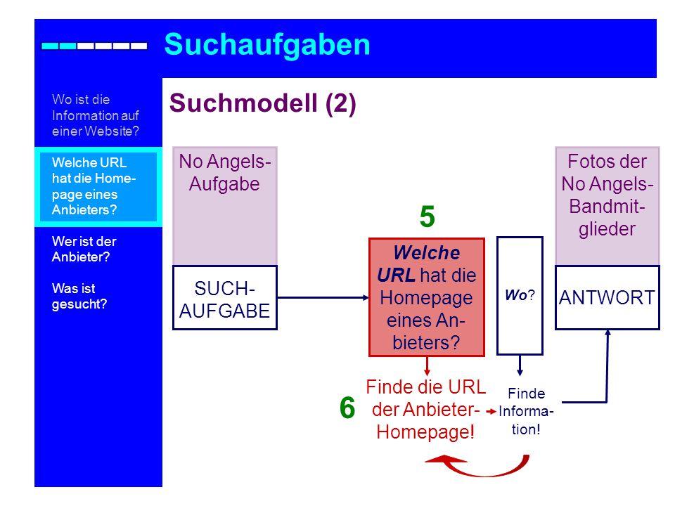 Teilaufgabe 1: Anbieter 2: Trennung am 13.2.1996 Suchaufgaben Wo ist die Information auf einer Website.
