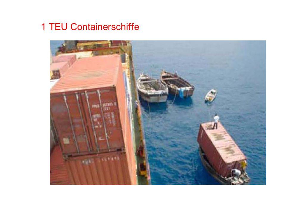 1 TEU Containerschiffe