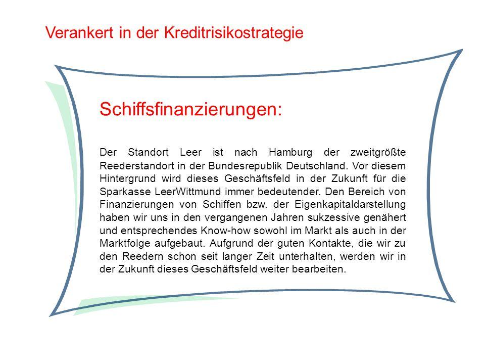 Verankert in der Kreditrisikostrategie Schiffsfinanzierungen: Der Standort Leer ist nach Hamburg der zweitgrößte Reederstandort in der Bundesrepublik