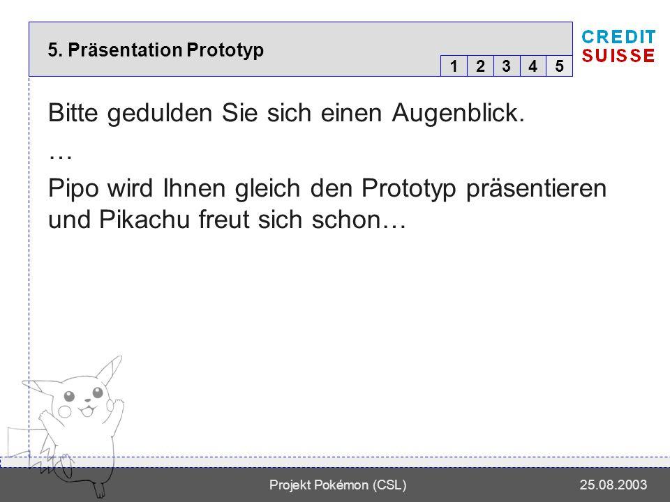 12345 Projekt Pokémon (CSL)25.08.2003 5.