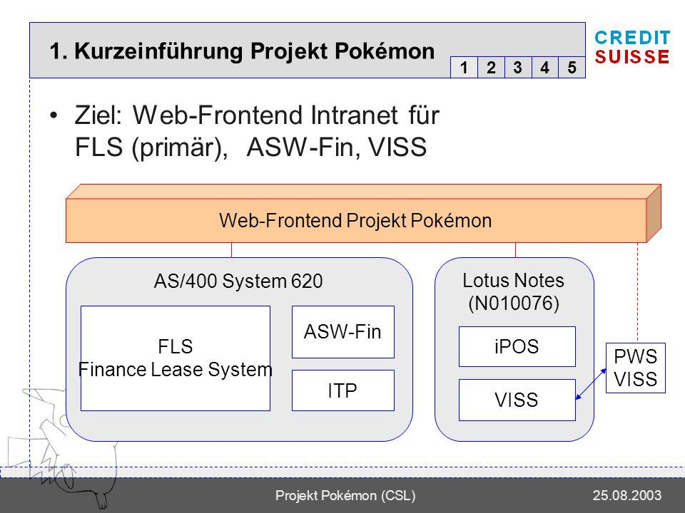 12345 Projekt Pokémon (CSL)25.08.2003 Warum Pokémon.