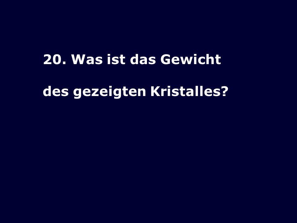 19.Wie schwer ist diese Adulargruppe aus dem ehemaligen Museum Schönenwerd.