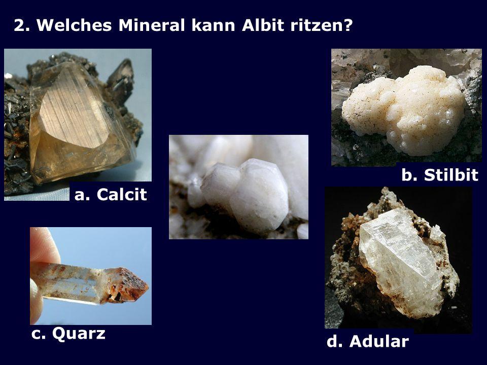 1. Wie heisst dieses Mineral? a.Ananas b.Anamas c.Antas d.Anatas Foto: © Theo Desax, Erstfeld