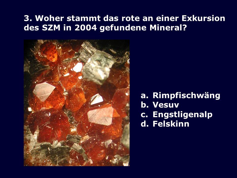 2. Welches Mineral kann Albit ritzen? d. Adular a. Calcit c. Quarz b. Stilbit