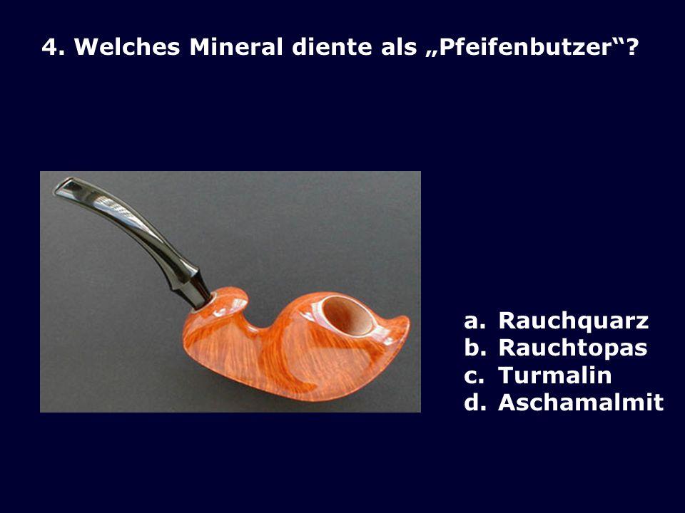 3.Woher stammt das rote an einer Exkursion des SZM in 2004 gefundene Mineral.