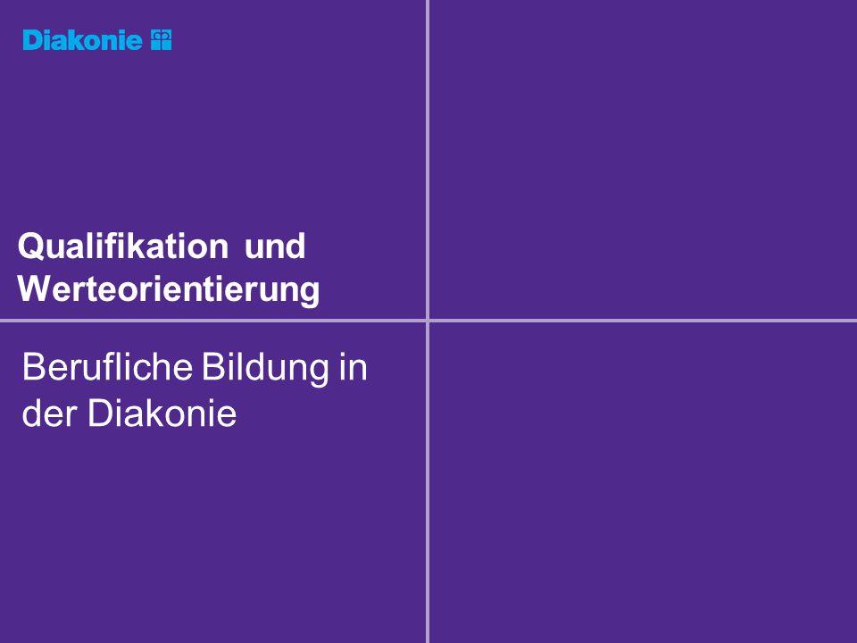 Qualifikation und Werteorientierung Berufliche Bildung in der Diakonie