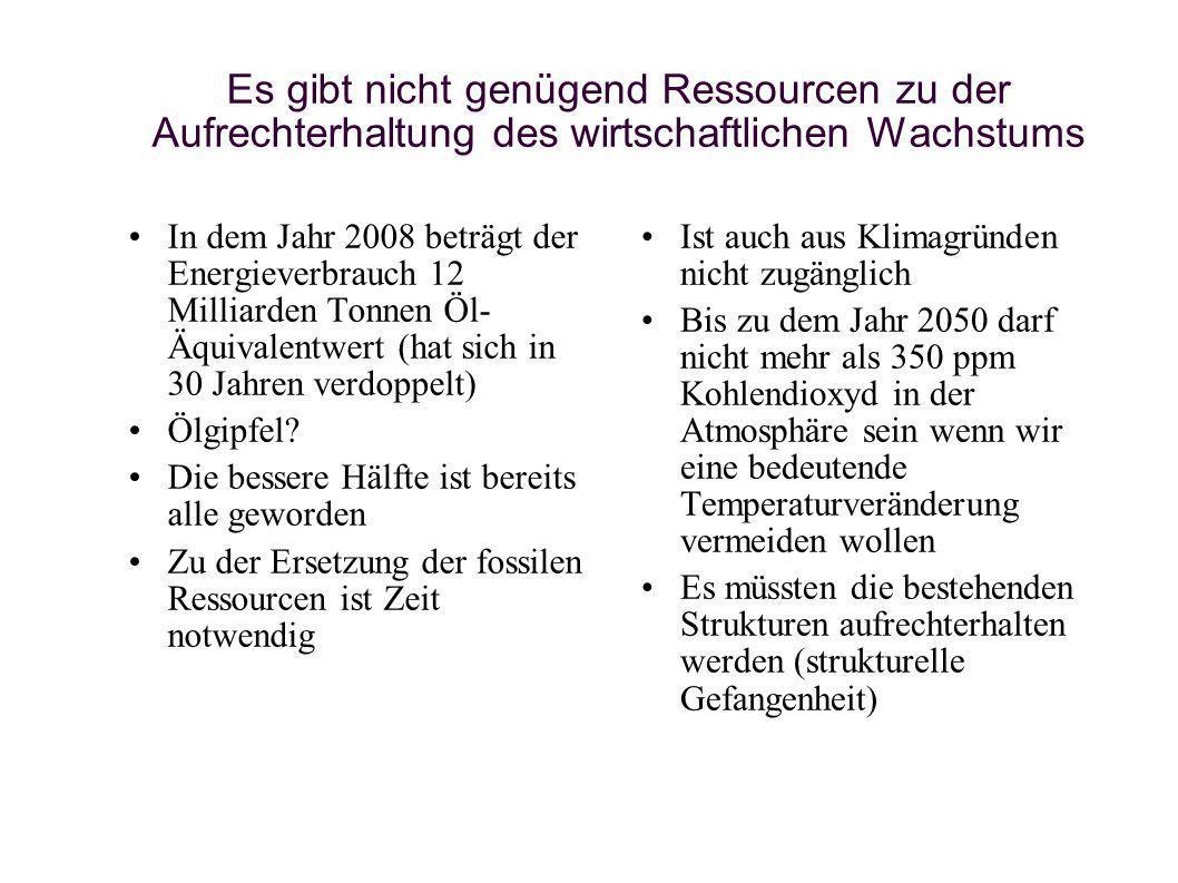Drehbuch 1 GEGENWÄRTIGER WEG – zu erwartende Zukunft Verbrauch / Belastung Erhaltungs- und Ernährungsfähigkeit 1,0 Erde 1, 25 Erde