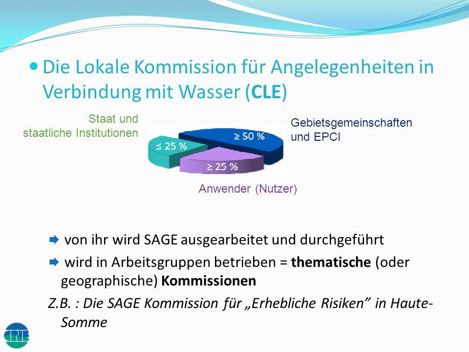 Die Lokale Kommission für Angelegenheiten in Verbindung mit Wasser (CLE) von ihr wird SAGE ausgearbeitet und durchgeführt wird in Arbeitsgruppen betri
