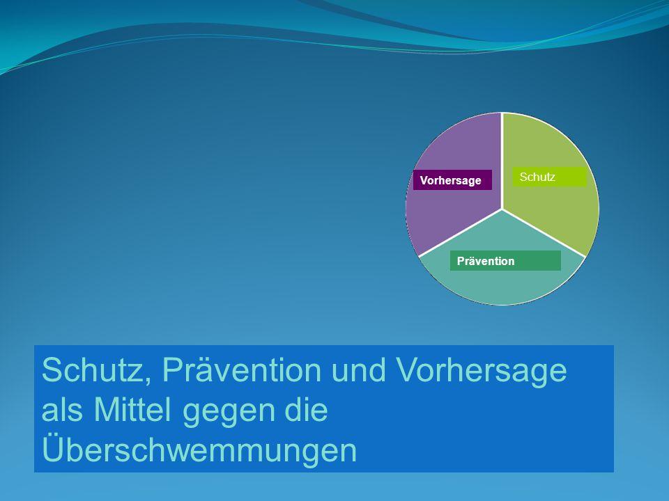 Vorhersage Schutz Prävention Schutz, Prävention und Vorhersage als Mittel gegen die Überschwemmungen