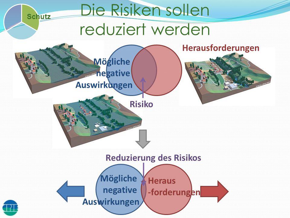 Die Risiken sollen reduziert werden Schutz Mögliche negative Auswirkungen Herausforderungen Risiko Mögliche negative Auswirkungen Heraus -forderungen