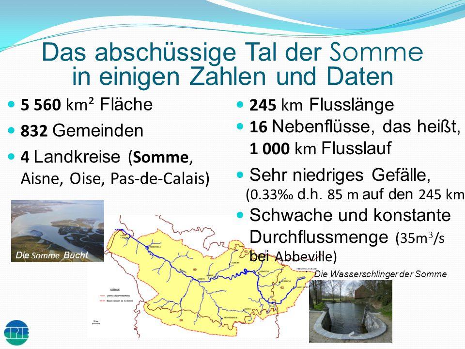 245 km Flusslänge 16 Nebenflüsse, das heißt, 1 000 km Flusslauf Sehr niedriges Gefälle, (0.33 d.h. 85 m auf den 245 km) Schwache und konstante Durchfl