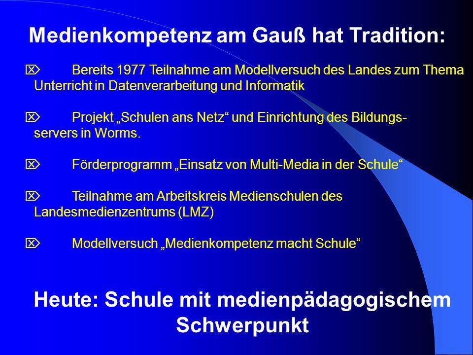 Medienkompetenz am Gauß hat Tradition: Bereits 1977 Teilnahme am Modellversuch des Landes zum Thema Unterricht in Datenverarbeitung und Informatik Pro