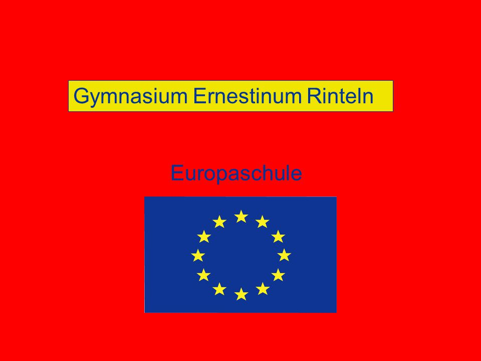 Gymnasium Ernestinum Rinteln Europaschule