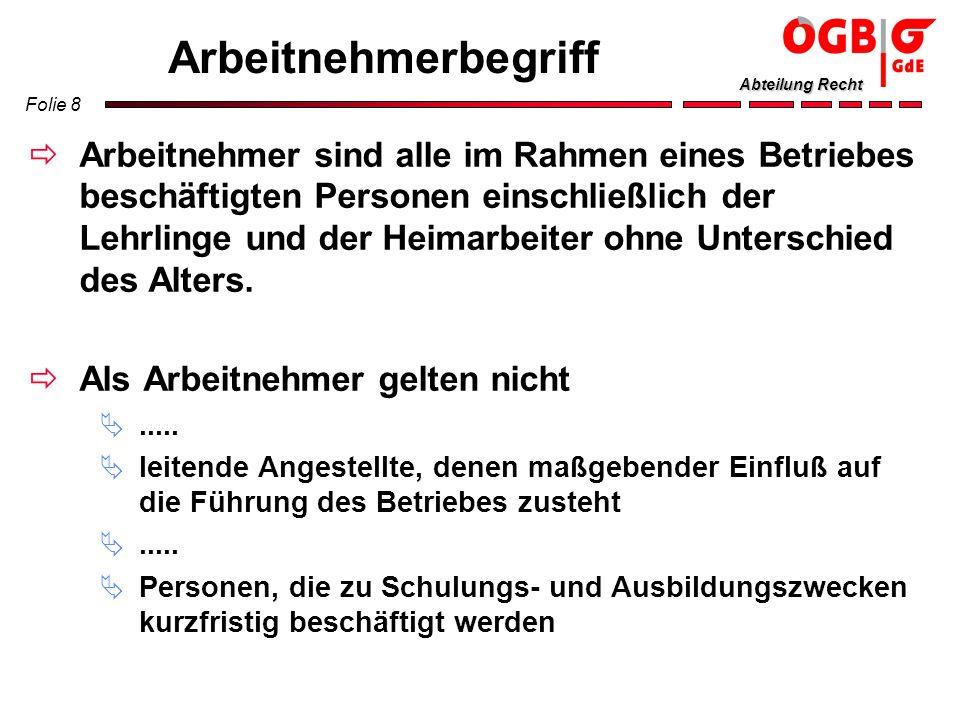 Folie 49 Abteilung Recht ZBR Wahl Wahlvorstand (min.
