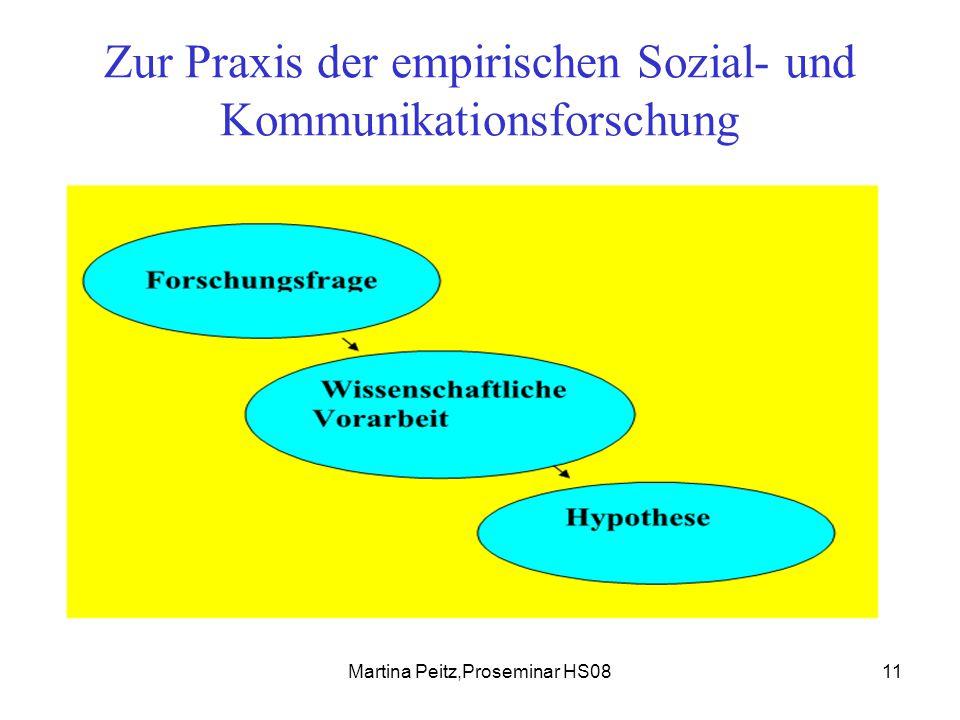 Martina Peitz,Proseminar HS0811 Zur Praxis der empirischen Sozial- und Kommunikationsforschung